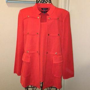 Red Misook tank & jacket